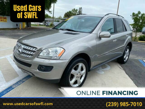 2008 Mercedes-Benz M-Class for sale at Used Cars of SWFL in Fort Myers FL