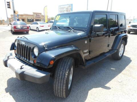 2008 Jeep Wrangler Unlimited for sale at AUGE'S SALES AND SERVICE in Belen NM