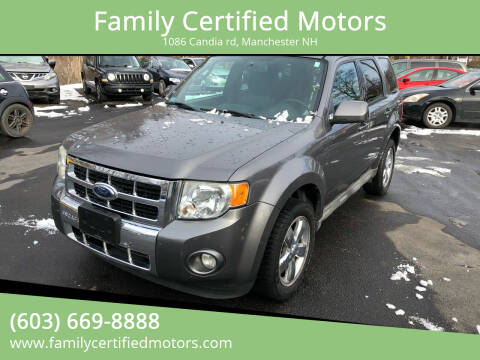 2009 Ford Escape for sale at Family Certified Motors in Manchester NH