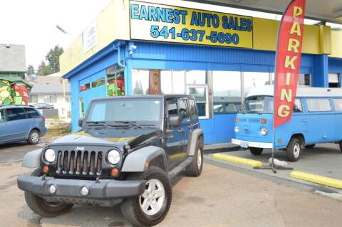 2008 Jeep Wrangler Unlimited for sale at Earnest Auto Sales in Roseburg OR