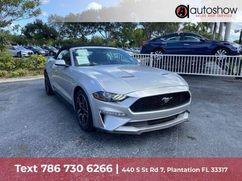 2019 Ford Mustang for sale at AUTOSHOW SALES & SERVICE in Plantation FL
