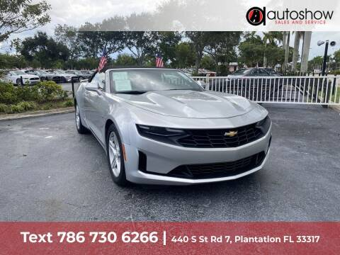 2019 Chevrolet Camaro for sale at AUTOSHOW SALES & SERVICE in Plantation FL