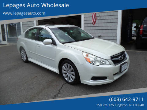 2011 Subaru Legacy for sale at Lepages Auto Wholesale in Kingston NH