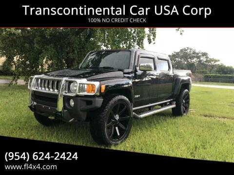 2010 HUMMER H3T for sale at Transcontinental Car USA Corp in Fort Lauderdale FL