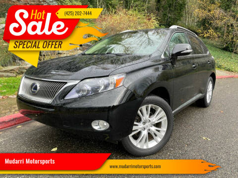 2011 Lexus RX 450h for sale at Mudarri Motorsports in Kirkland WA