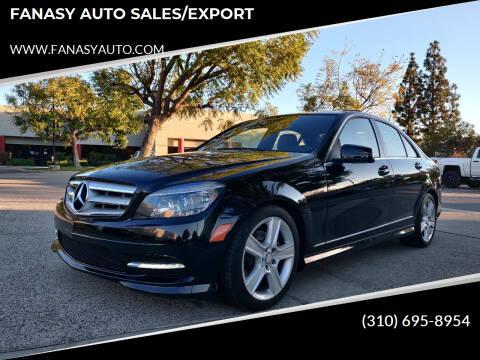 2011 Mercedes-Benz C-Class for sale at FANASY AUTO SALES/EXPORT in Yorba Linda CA