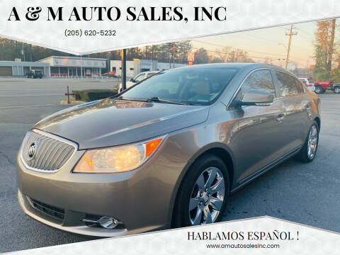 2011 Buick LaCrosse for sale at A & M Auto Sales, Inc in Alabaster AL