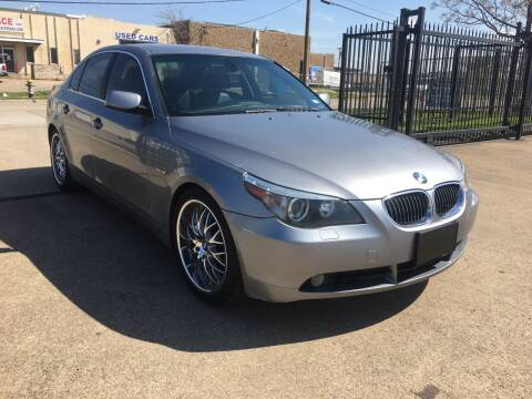 2006 BMW 5 Series for sale at TETCO AUTO SALES  / TETCO FUNDING in Dallas TX