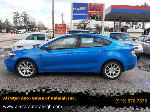 2016 Dodge Dart for sale at All Star Auto Sales of Raleigh Inc. in Raleigh NC