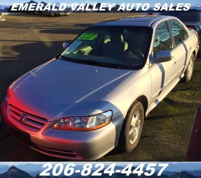 2002 Honda Accord for sale at Emerald Valley Auto Sales in Des Moines WA