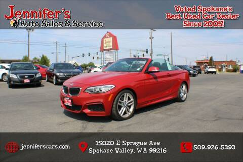 2015 BMW 2 Series for sale at Jennifer's Auto Sales in Spokane Valley WA