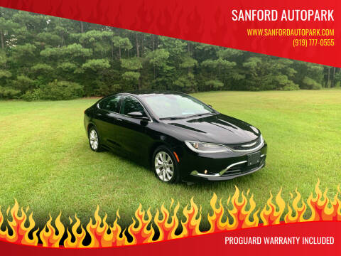 2015 Chrysler 200 for sale at Sanford Autopark in Sanford NC