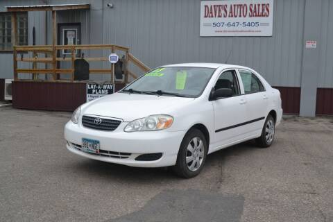 2007 Toyota Corolla for sale at Dave's Auto Sales in Winthrop MN