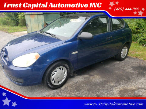 2007 Hyundai Accent for sale at Trust Capital Automotive Inc. in Covington GA