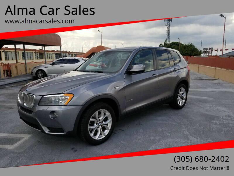 2014 BMW X3 for sale at Alma Car Sales in Miami FL