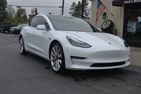 2018 Tesla Model 3 for sale at Nick's Motor Sales LLC in Kalkaska MI