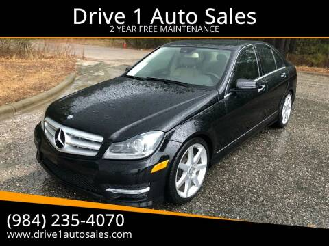 2013 Mercedes-Benz C-Class for sale at Drive 1 Auto Sales in Wake Forest NC