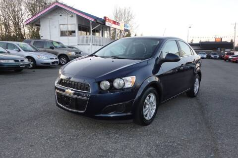 2016 Chevrolet Sonic for sale at Leavitt Auto Sales and Used Car City in Everett WA