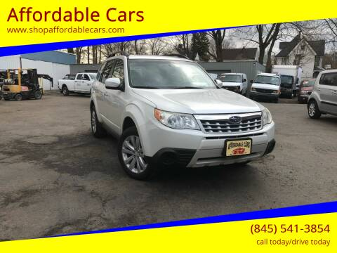 2012 Subaru Forester for sale at Affordable Cars in Kingston NY