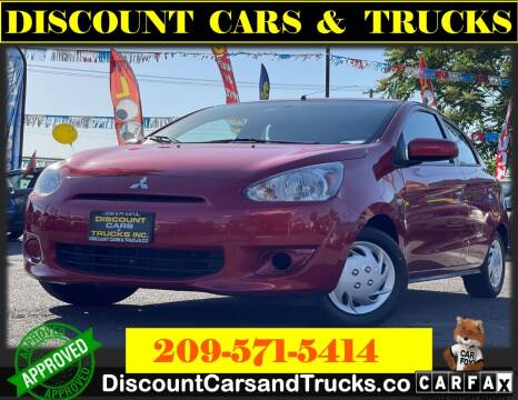 2014 Mitsubishi Mirage for sale at Discount Cars & Trucks in Modesto CA