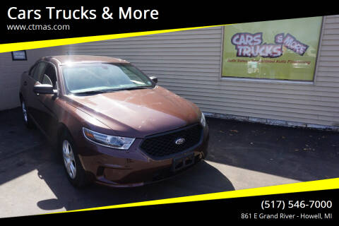2016 Ford Taurus for sale at Cars Trucks & More in Howell MI