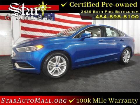 2018 Ford Fusion for sale at STAR AUTO MALL 512 in Bethlehem PA