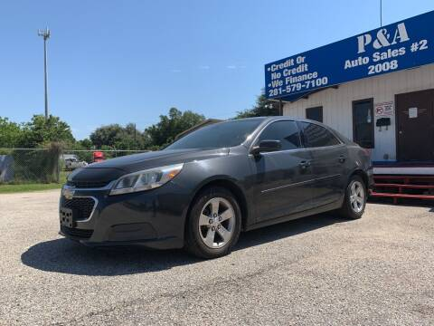 2015 Chevrolet Malibu for sale at P & A AUTO SALES in Houston TX