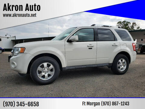 2012 Ford Escape for sale at Akron Auto in Akron CO