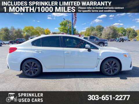 2015 Subaru WRX for sale at Sprinkler Used Cars in Longmont CO