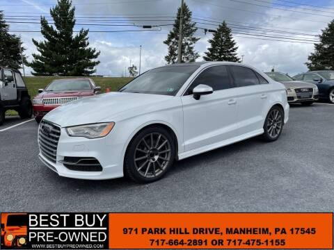 2016 Audi S3 for sale at Best Buy Pre-Owned in Manheim PA