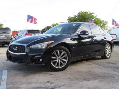 2015 Infiniti Q50 for sale at DK Auto Sales in Hollywood FL