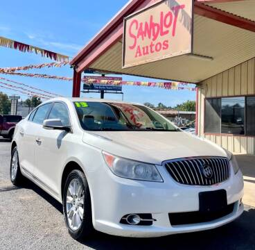 2013 Buick LaCrosse for sale at Sandlot Autos in Tyler TX