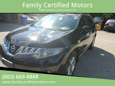 2009 Nissan Murano for sale at Family Certified Motors in Manchester NH