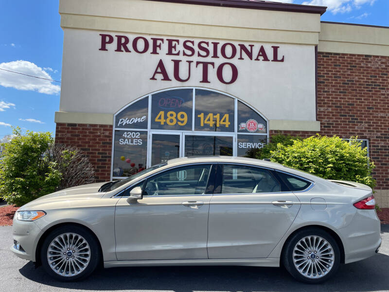 2015 Ford Fusion for sale at Professional Auto Sales & Service in Fort Wayne IN