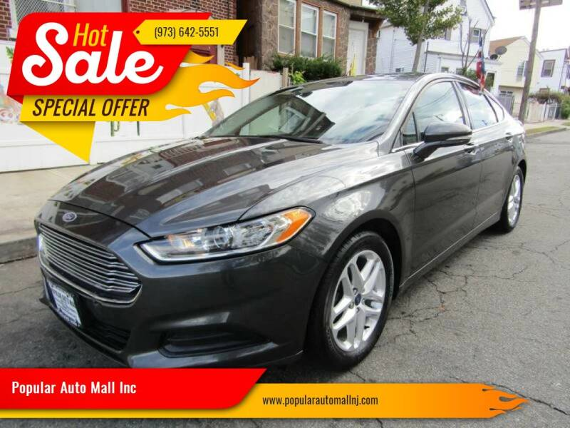 2016 Ford Fusion for sale at Popular Auto Mall Inc in Newark NJ