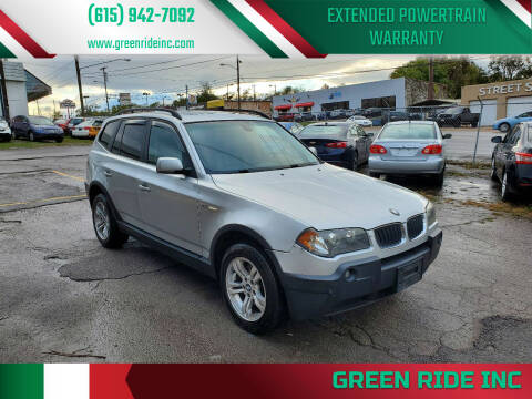 2005 BMW X3 for sale at Green Ride Inc in Nashville TN