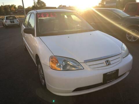 2002 Honda Civic for sale at BELOW BOOK AUTO SALES in Idaho Falls ID
