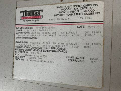 2002 Freightliner Thomas FS65