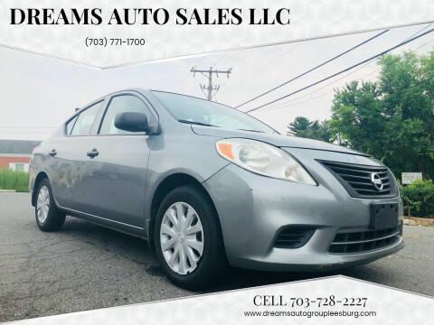 2012 Nissan Versa for sale at Dreams Auto Sales LLC in Leesburg VA