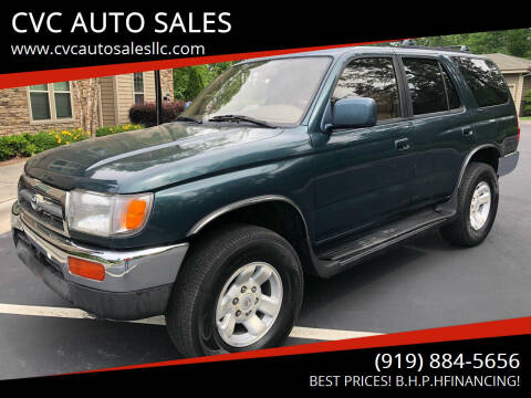 1998 Toyota 4Runner for sale at CVC AUTO SALES in Durham NC