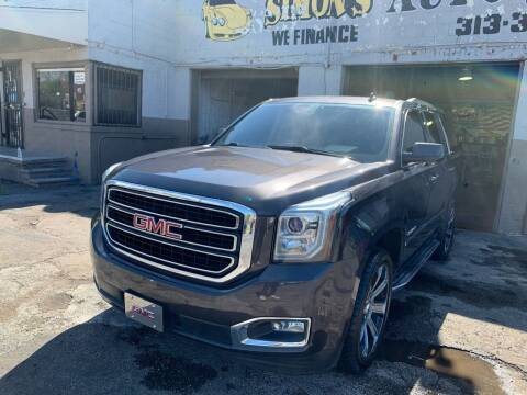 2015 GMC Yukon for sale at Simon's Auto Sales in Detroit MI