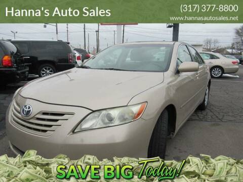 2008 Toyota Camry for sale at Hanna's Auto Sales in Indianapolis IN