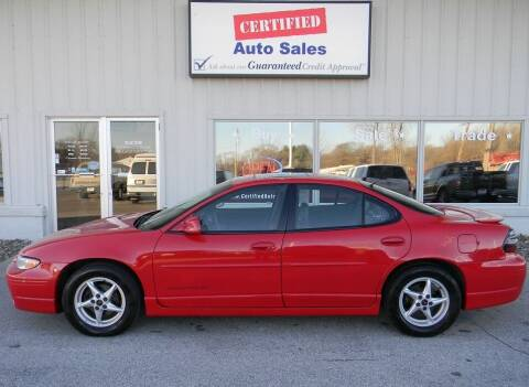 2002 Pontiac Grand Prix for sale at Certified Auto Sales in Des Moines IA