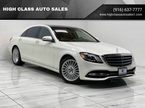 2018 Mercedes-Benz S-Class for sale at HIGH CLASS AUTO SALES in Rancho Cordova CA