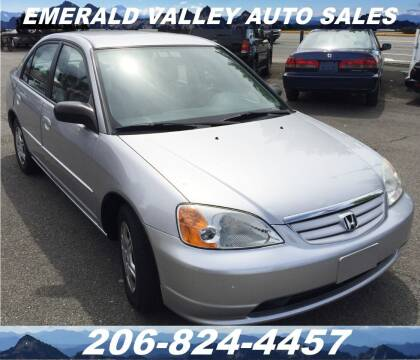 2002 Honda Civic for sale at Emerald Valley Auto Sales in Des Moines WA