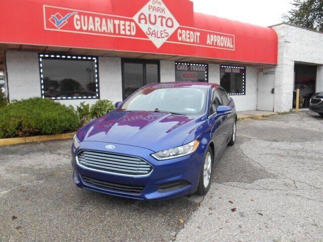 2016 Ford Fusion for sale at Oak Park Auto Sales in Oak Park MI