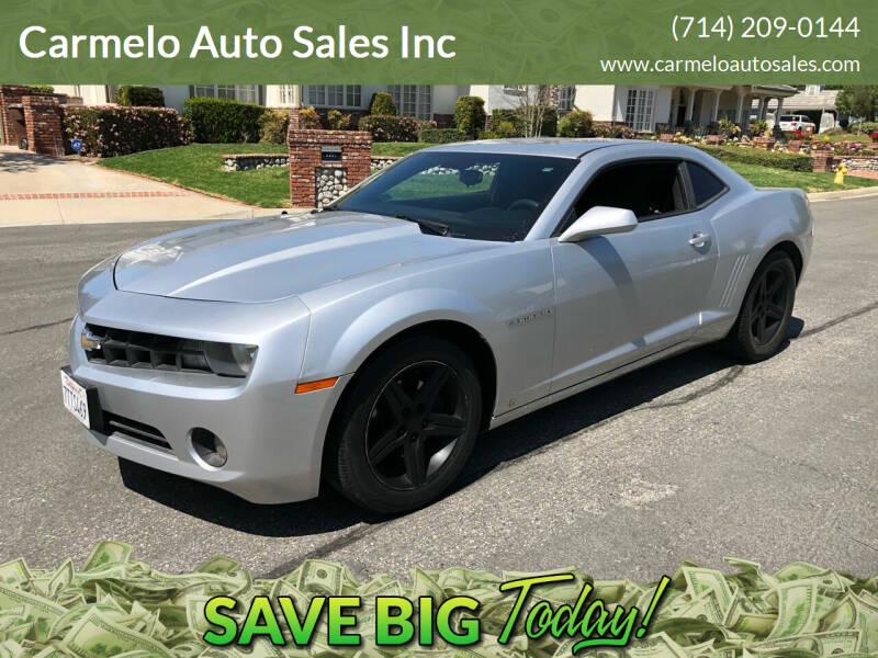 2010 Chevrolet Camaro for sale at Carmelo Auto Sales Inc in Orange CA