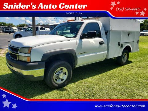 2006 Chevrolet Silverado 2500HD for sale at Snider's Auto Center in Titusville FL