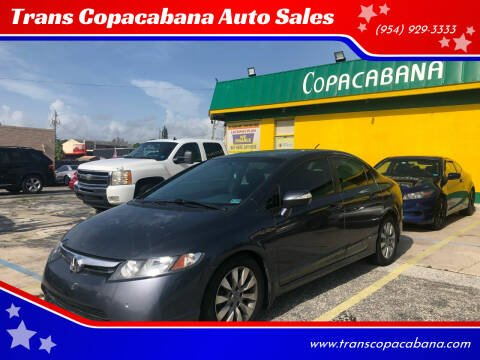 2006 Honda Civic for sale at Trans Copacabana Auto Sales in Hollywood FL