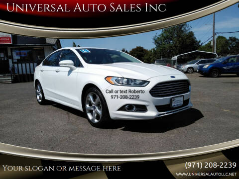 2014 Ford Fusion for sale at Universal Auto Sales Inc in Salem OR